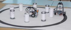 В рамках «Фестиваля науки-2013» состоялись первые соревнования по робототехнике